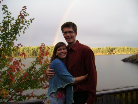 Anne and Julian with the rainbow